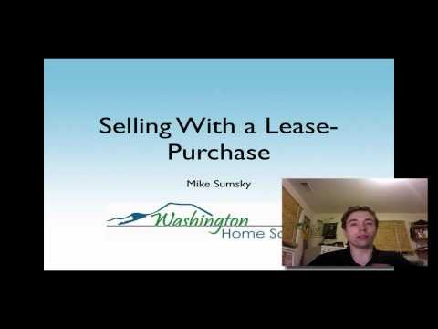 Selling a Home with a Lease Purchase (part 1)