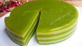 Cách làm Bánh Da Lợn : Dai – Giòn – Dẻo – Mềm vị đậu xanh lá dứa