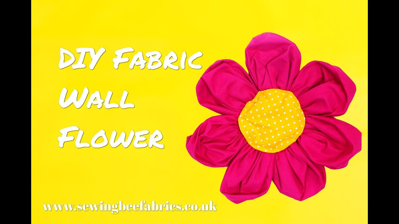 How to make a large fabric flower - DIY wall flower tutorial by ...