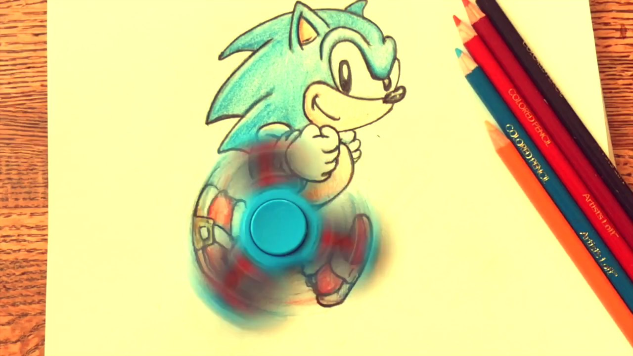Team Sonic The Hedgehog Fidget Spinner How To Draw Diy