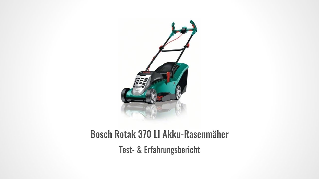 testbericht bosch rotak 370 li akku rasenm her im test youtube. Black Bedroom Furniture Sets. Home Design Ideas