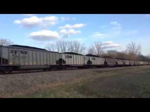 Kanawha River Railroad Coal Train Near Pleasantville, Ohio