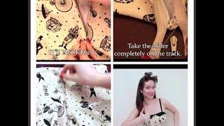 How to repair a separated zipper- The Rachel Dixon tutorial - zipper fix and re sew Swing Dress