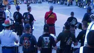Combined Pipe and Drums perform 34 Amazing Grace 34