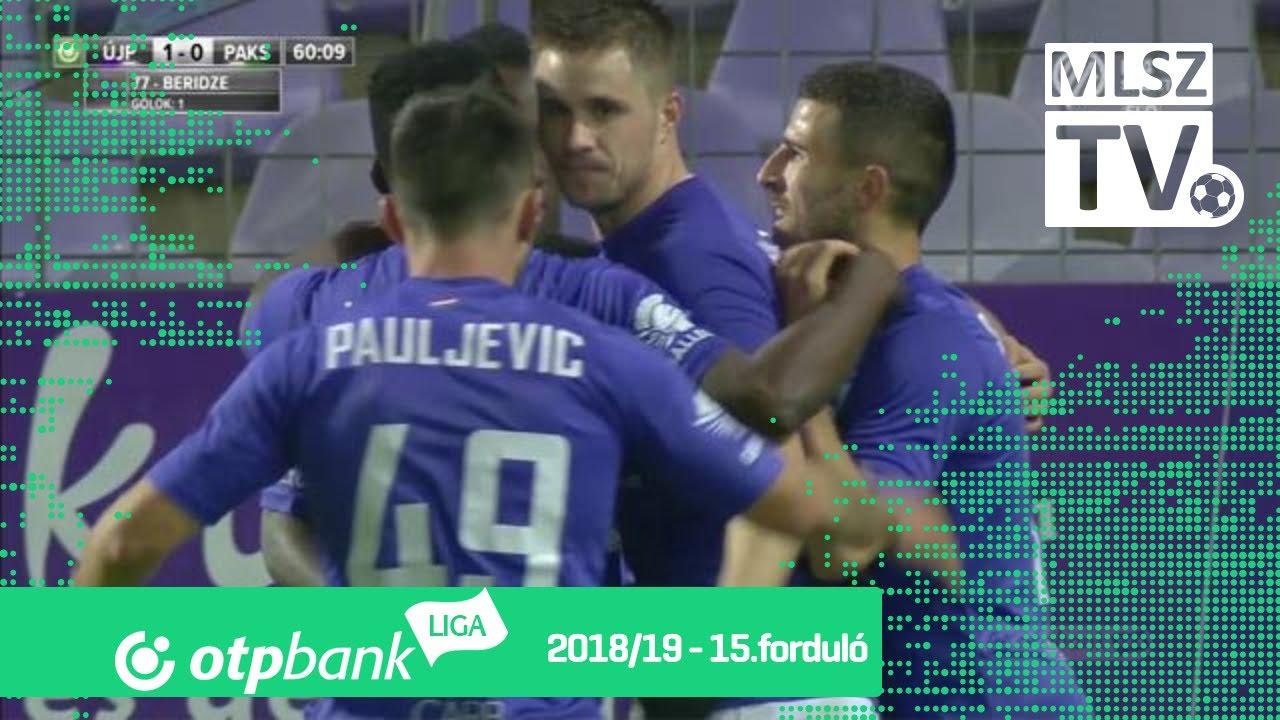 Beridze Giorgi gólja az Újpest FC - Paksi FC mérkőzésen