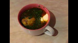 Суп из чечевицы и куриными крылышками