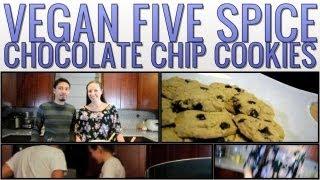 Vegan Five Spice Chocolate Chip Cookies