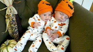 Twins First Halloween