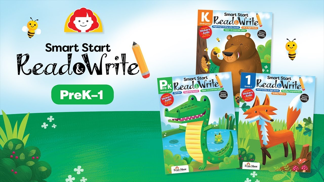 Evan-Moor's Smart Start: Read & Write Activity Books (PreK-1st grade)