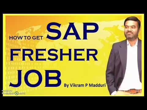 SAP Fresher Jobs Part 1