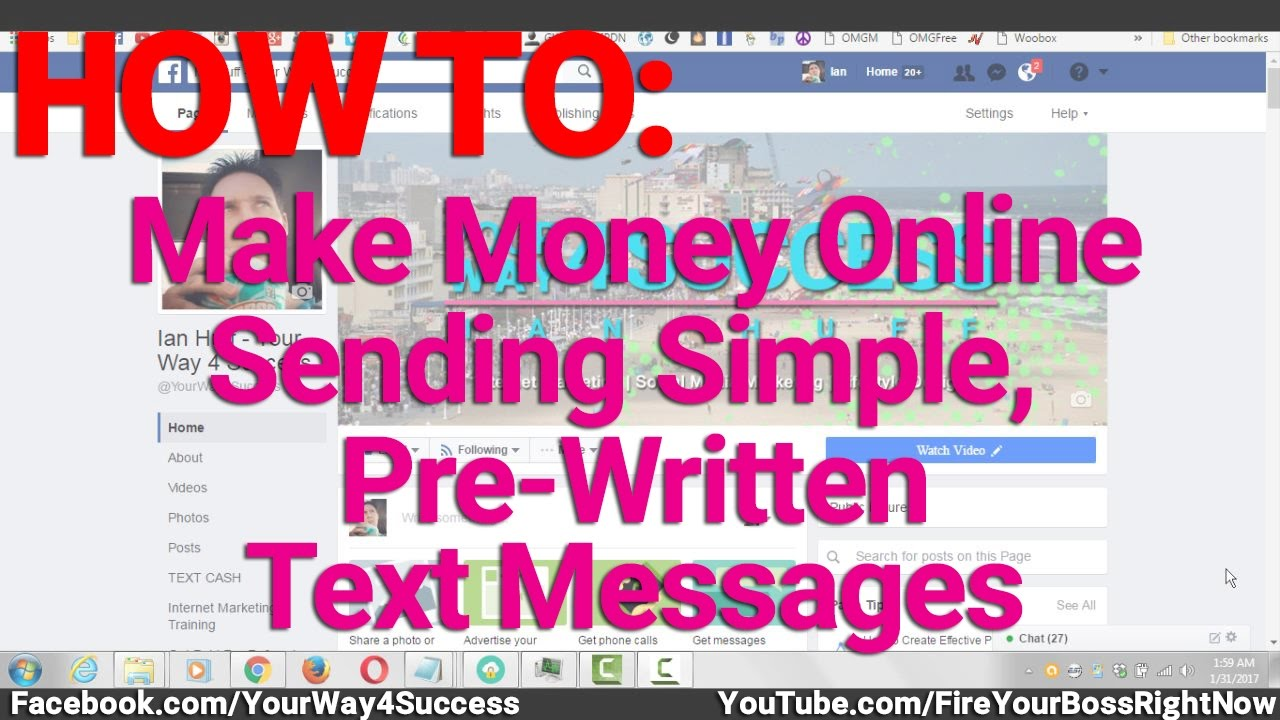 How To Make Money Online Sending Simple, Pre Written Text ...