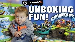 Flynns Ship & Skylands Playset Unboxing Fun! Toys R Us Exclusives (+ More Skylanders Accessories)