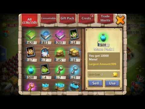 Castle Clash Inscribing From 91-100 SANTA Boom 15,000,000 Blue Crystals Or More