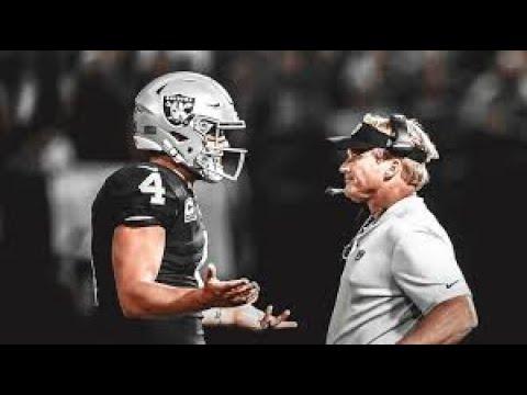 Jon Gruden calls Derek Carr a 'great quarterback' after Raiders' win ...