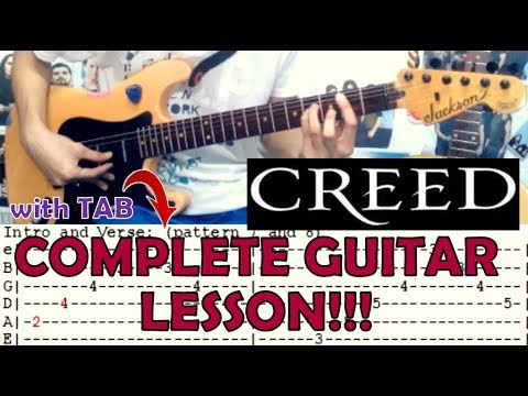 One Last Breath Creedcomplete Guitar Lessoncoverwith Chords And