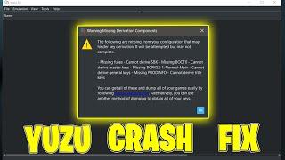 Yuzu Emulator Crash Fix Start Up Error Fix File Error Fix Yuzu Keys Youtube