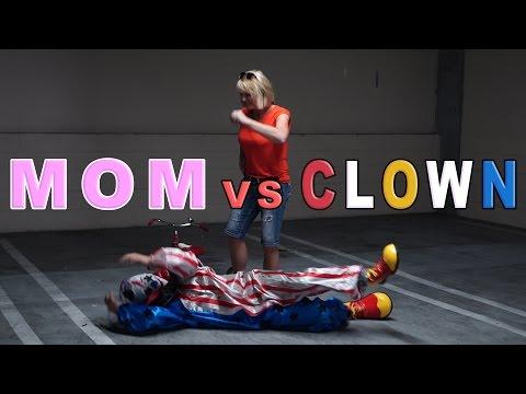 Download Youtube: MOM VS. KILLER CLOWN!