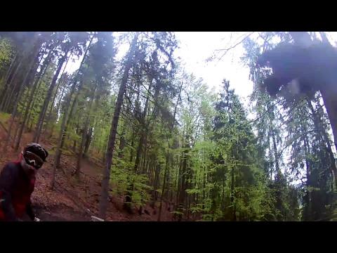 Bear on bike trail in Slovakia - Close call