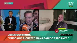"""Carlos Pagni: """"Macri se radicaliza con Pichetto, Cristina se disimula con Alberto Fernández"""