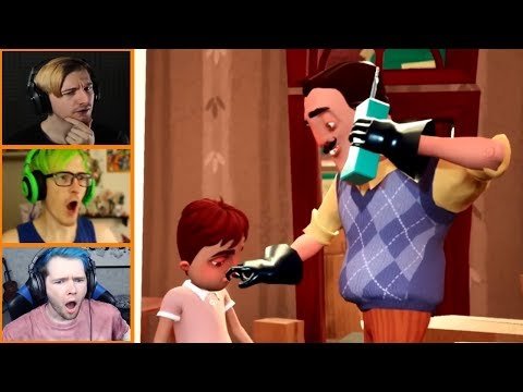 Let's Players Reaction To The Neighbor's Family | Hello Neighbor Hide And Seek |