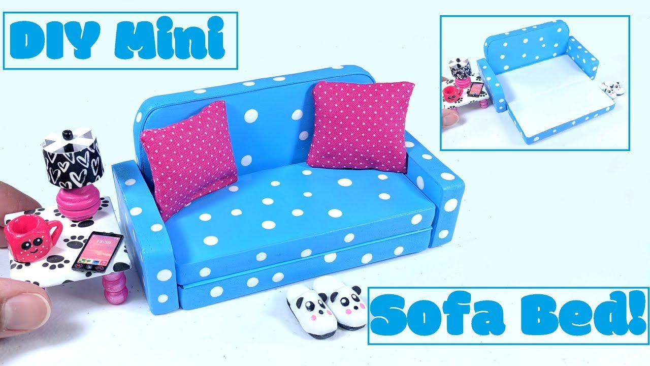 Diy Miniature Sofa Bed Pull Out Couch