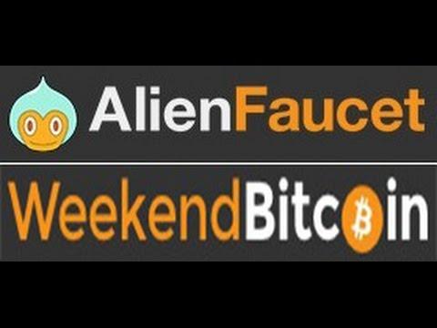Вывод сатоши с кранов Alien Faucet и Weekend Bitcoin!
