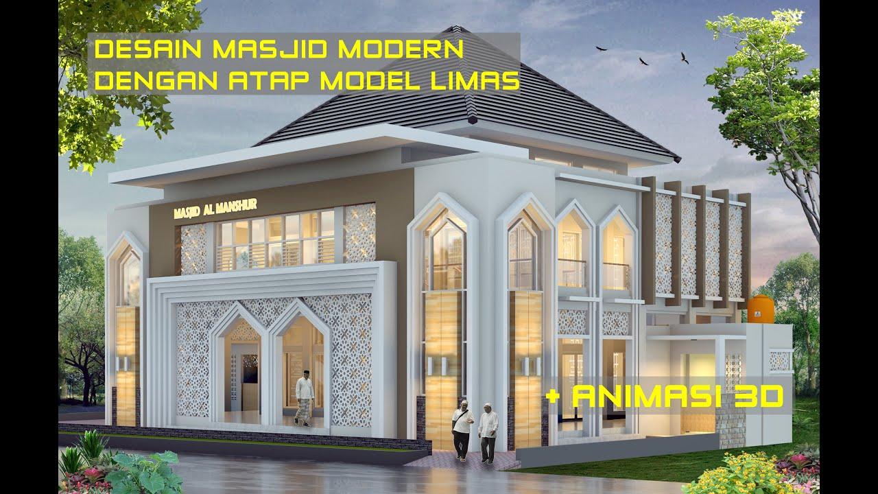Desain Masjid Modern 2 Lantai Youtube Masjid minimalis modern