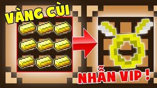Minecraft Đảo Lộn #6 : Vàng Chế Tạo Ra Nhẫn Vip ??