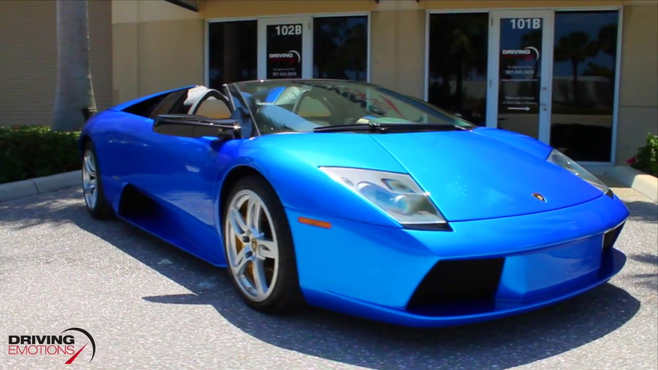 2006 Lamborghini Murcielago Roadster 6 Speed Manual Monterey Blue