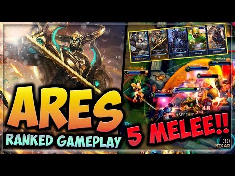 [5 MELEE RANKED] HEROES EVOLVED - ARES BUILD | TROLL IN RANK | FUN GAMEPLAY!!