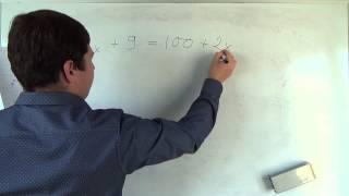 Алгебра 7 класс. 13 сентября. Решение линейных уравнений #3
