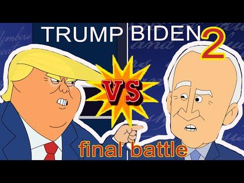 Trump vs Biden 2 | Cartoon Rap Battle