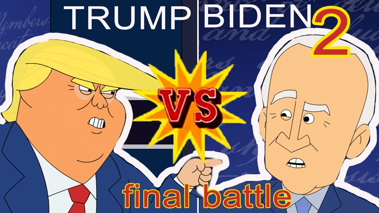 Trump vs Biden 2 | Cartoon Rap Battle