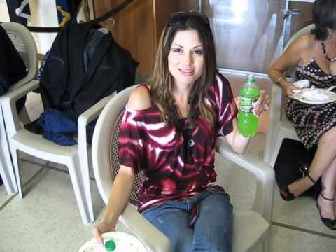 "Actress Veronica Simpson on the ""Tony Tango"" movie set with Game Juice!"