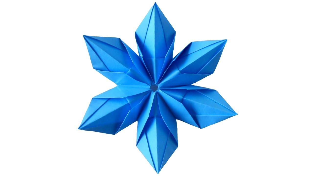 Как сделать снежинки оригами на новый год
