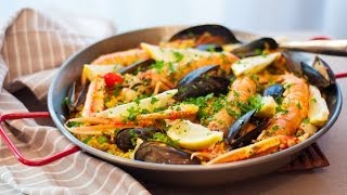 [Eng Sub]西班牙海鲜饭 Paella Recipe