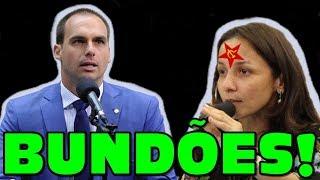 Eduardo Bolsonaro HUMILHA deputada comunista que se diz cristã!