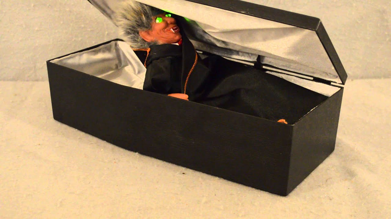 dracula in coffin battery op halloween toydecoration