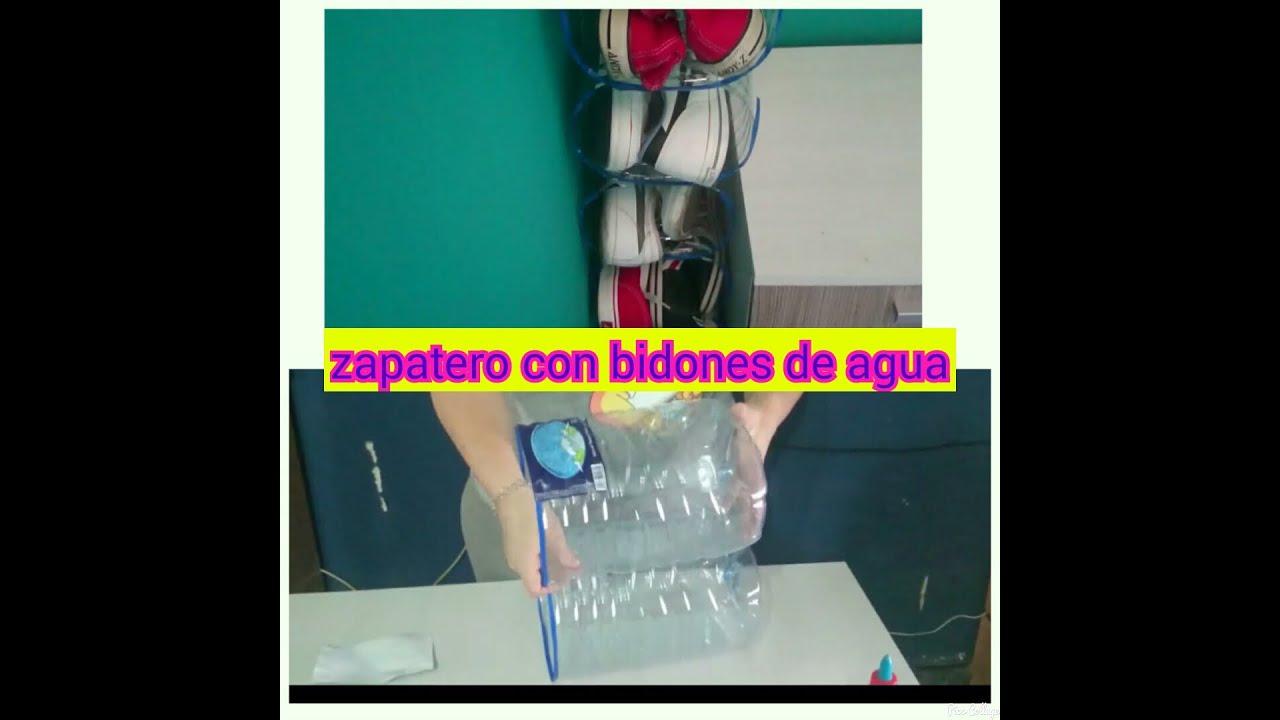 Diy zapatero con bidones de agua jenny family youtube for Bidones para agua