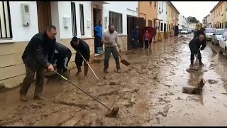 Испании страдает от мощного наводнения