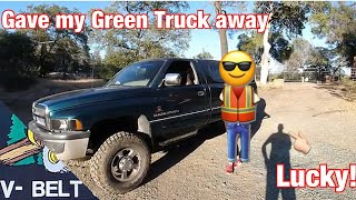 I gave my green truck away! 50k Subscriber giveaway WINNER announcement