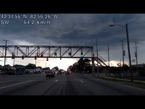 Driving from Clinton Township, Michigan to Royal Oak, Michigan
