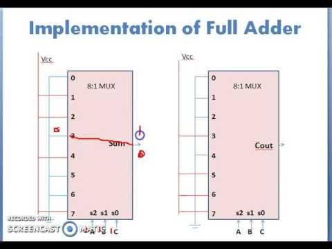 Full adder using multiplexer youtube full adder using multiplexer ccuart Image collections
