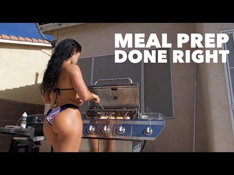 BIKINI & POOL DAY | MEAL PREP DONE RIGHT | Bikini prep series Vlog #17