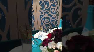 Свадебное оформление. Молодожены Олег и Анастасия. Бирюзовый цвет.