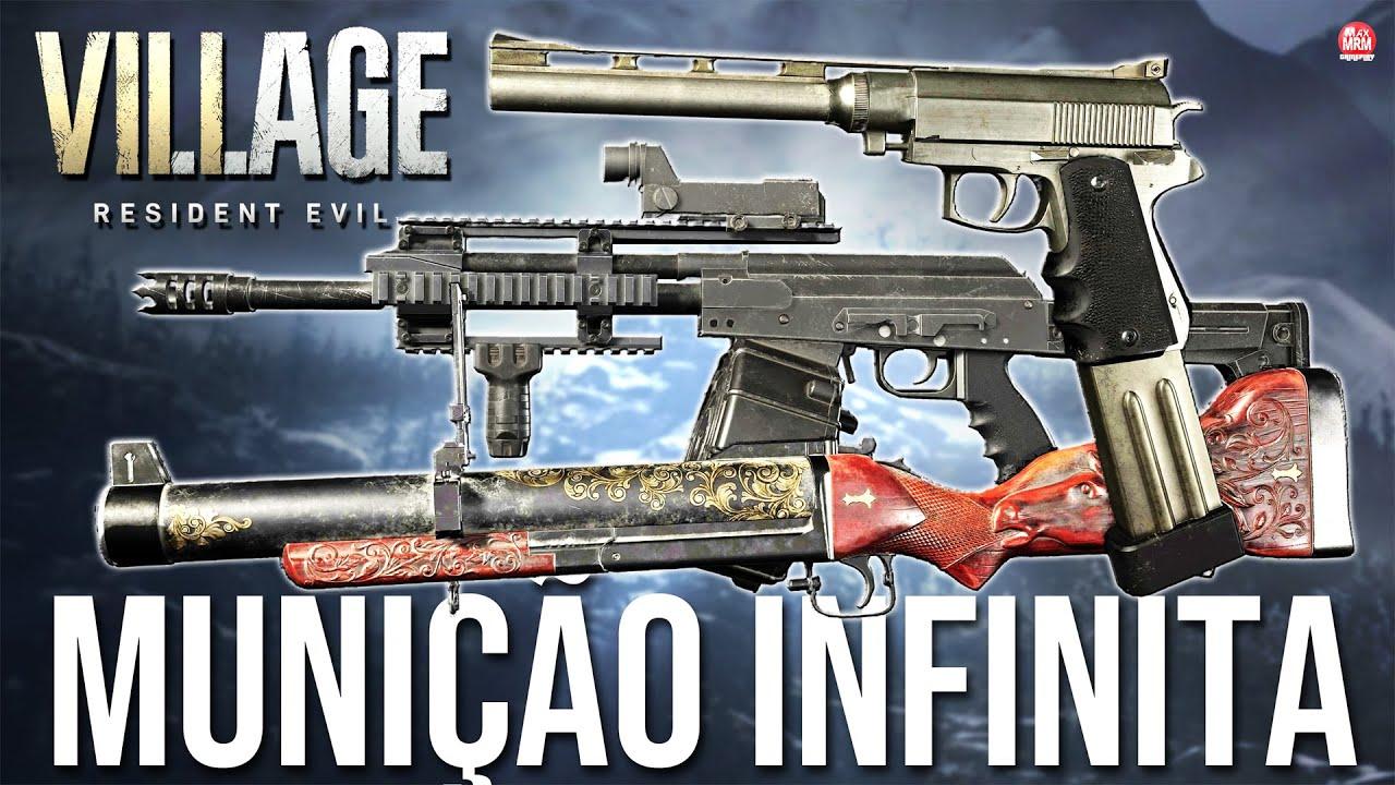 RESIDENT EVIL VILLAGE - COMO CONSEGUIR MUNIÇÃO INFINITA ( Todas as armas infinitas)