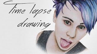 Drawing Michael Clifford from 5sos (time lapse)