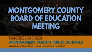 MCPS Board of Education Business Meeting (virtual) 08/06/20