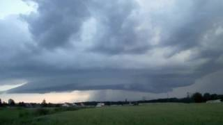 Supercela 28 června 2016 / Supercell June 28, 2016