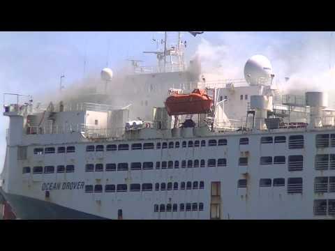Ship fire, Fremantle Port Western Australia